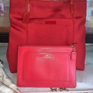 Coach large tote bag & large wallet